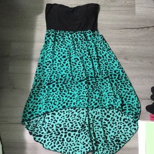 Rue 21 Teal and Black Cheetah Dress